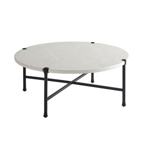 Pavlova Graphite and White Round Cocktail Table