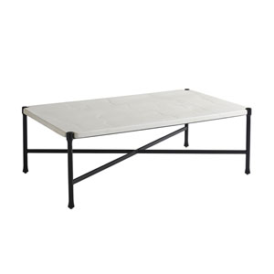 Pavlova Graphite and White Rectangular Cocktail Table