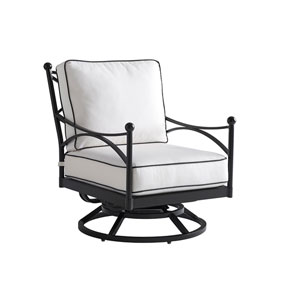 Pavlova Graphite and White Swivel Lounge Chair
