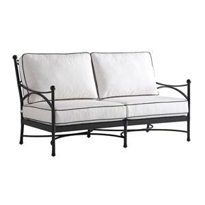 Pavlova Graphite and White Love Seat