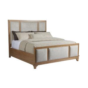 Newport Light Chestnut Brown Crystal Cove Upholstered Panel California King Bed