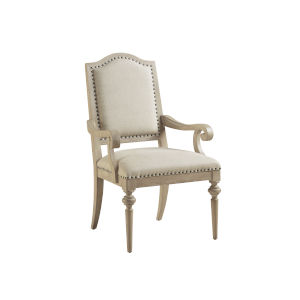 Malibu Warm Taupe Aidan Upholstered Arm Chair