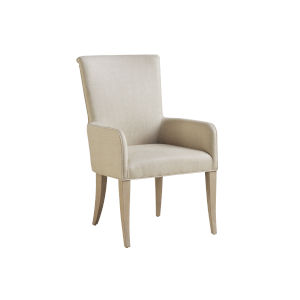 Malibu Warm Taupe Serra Upholstered Arm Chair