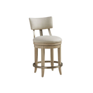 Malibu Warm Taupe Cliffside Upholstered Counter Stool