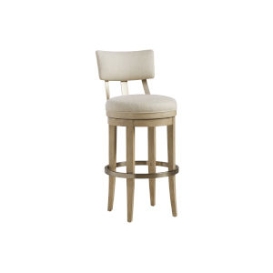 Malibu Warm Taupe Cliffside Upholstered Bar Stool