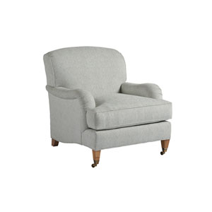 Upholstery Gray Sydney Chair With Brass Caster