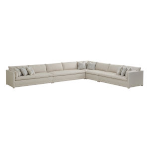 Upholstery Biege Corner Colony Sectional