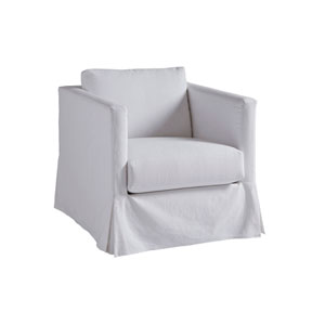 Upholstery White Marina Slipcover Chair