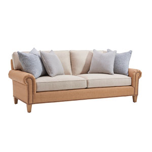 Upholstery Brown and Beige Watermill Sofa