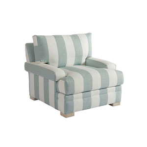 Upholstery Green and White Maxwell Chair