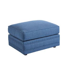 Upholstery Blue Mercer Ottoman