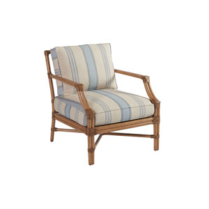 Upholstery Blue and Beige Redondo Chair