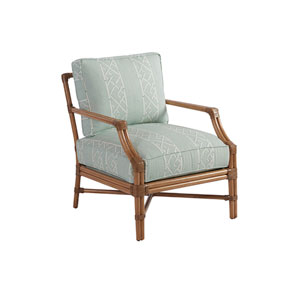 Upholstery Green and White Redondo Chair