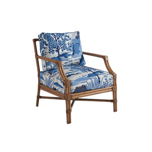 Upholstery Blue and White Redondo Chair