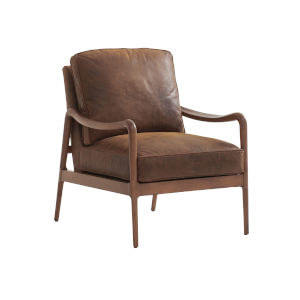Upholstery Brown Leblanc Leather Chair