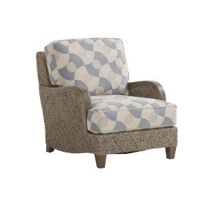 Upholstery Brown Blue Thayer Chair