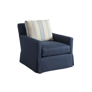 Upholstery Blue Harlow Swivel Chair