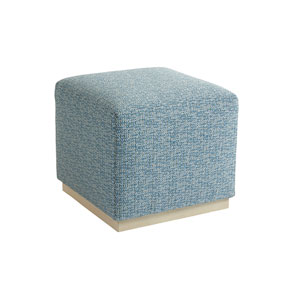 Upholstery Blue Colby Ottoman