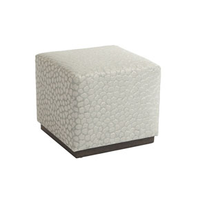 Upholstery White Colby Ottoman