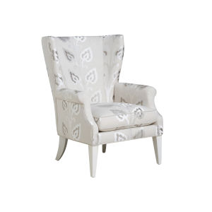 Upholstery White Newton Wing Chair
