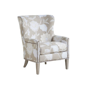 Upholstery Linen White Avery Wing Chair