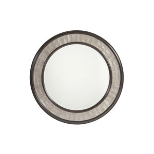 Brentwood Beige and Brown Georgina Round Mirror