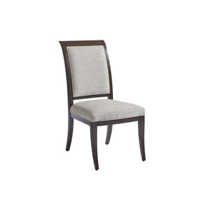 Brentwood Gray and Brown Kathryn Upholstered Side Chair
