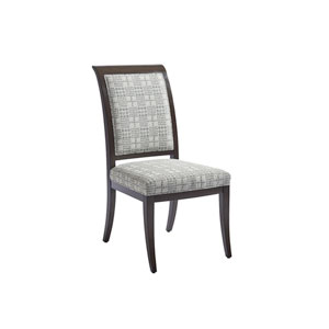 Brentwood Gray, White and Brown Kathryn Upholstered Side Chair