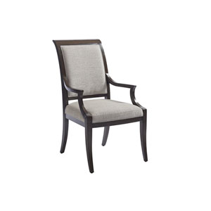 Brentwood Gray and Brown Kathryn Upholstered Arm Chair