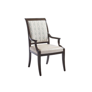 Brentwood Beige and Brown Kathryn Upholstered Arm Chair