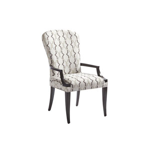 Brentwood White Schuler Upholstered Arm Chair