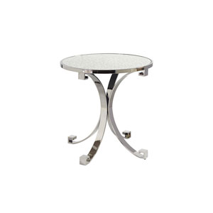 Brentwood Silver Grace Metal Lamp Table