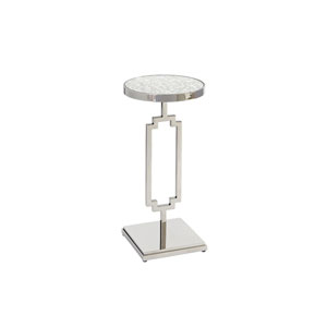Brentwood Silver Stonehill Metal Accent Table