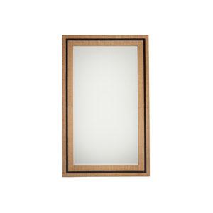 Newport Brown La Costa Rectangular Raffia Mirror