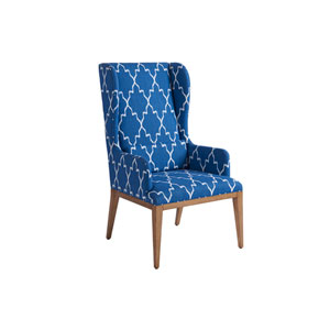 Newport Blue Seacliff Upholstered Host Wing Chair