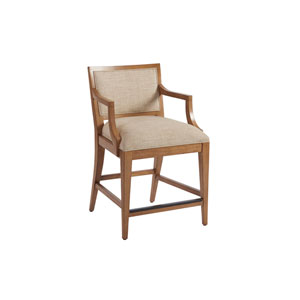 Newport Beige and Brown Eastbluff Upholstered Counter Stool