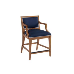 Newport Dark Blue Eastbluff Upholstered Counter Stool