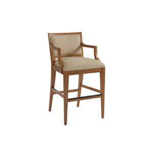 Newport Beige and Brown Eastbluff Upholstered Bar Stool