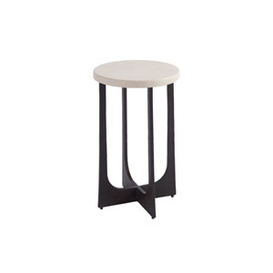 Newport White Breakwater Accent Table