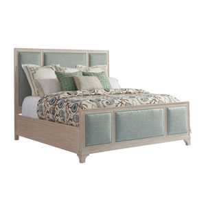 Newport Green Crystal Cove Upholstered Queen Panel Bed