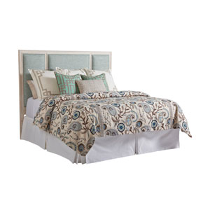 Newport Green Crystal Cove Upholstered King Panel Headboard