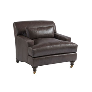 Upholstery Brown Oxford Leather Chair