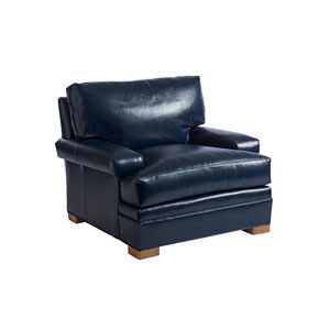 Upholstery Blue Maxwell Leather Chair