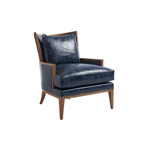 Upholstery Blue Atwood Leather Chair