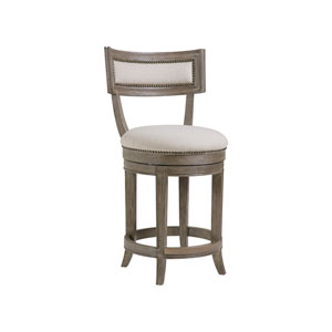 Cohesion Program Grigio Aperitif Swivel Counter Stool