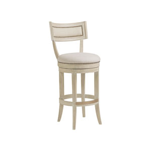 Cohesion Program Bianco Apertif Swivel Barstool