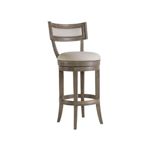 Cohesion Program Grigio Aperitif Swivel Barstool