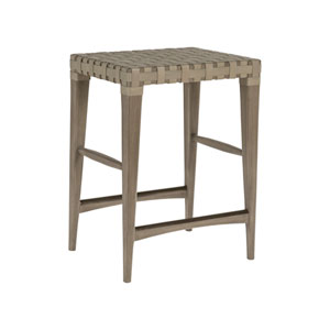 Cohesion Program Grigio Milo Leather Backless Counter Stool