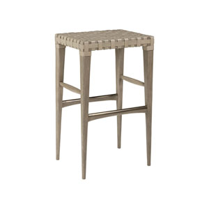 Cohesion Program Grigio Milo Leather Backless Barstool