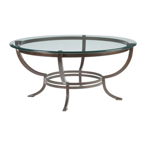 Metal Designs Antique Copper Andress Round Cocktail Table